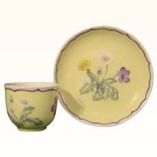 Vintage Nymphenburg Cup and Saucer Painted by Rudolf Sieck.