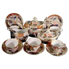 Chamberlain Worcester Thumb and Finger Pattern Tea Service C.1805