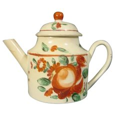 Early Staffordshire Creamware Miniature Teapot C.1770.