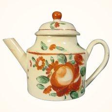 Early Staffordshire Creamware Miniature Teapot C.1770.