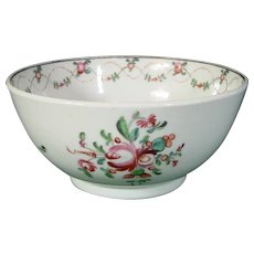 New Hall English Hard Paste Porcelain Bowl from a Tea Set in Pattern 241.