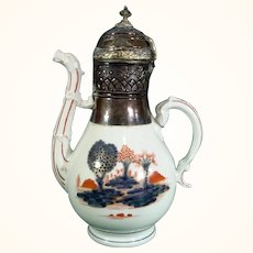 Doccia Coffee Pot with Imari and Gilt Decoration, c1760.