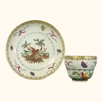 Vienna Cup & Saucer with Birds, Late 18th C.