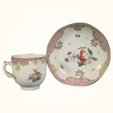 Cozzi Cup & Saucer with Fruit C.1785.