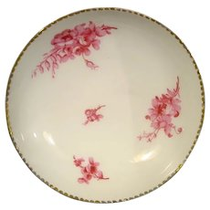 Early Sevres Saucer with Camaieu Rose Flowers C.1750