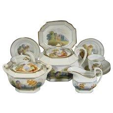 Machin Handpainted Tea Set in Pattern 346 C1835.