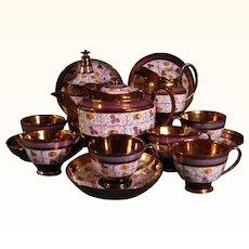 Strawberry Copper Luster Tea Set C.1815