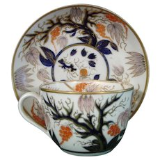 New Hall Cup and Saucer in Pattern 446 c.1820.