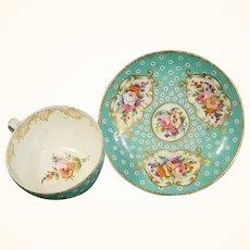Nantgarw Cup & Saucer by Robins & Randall C.1820