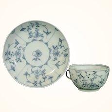 Tettau Cup & Saucer Blue Onion Pattern C.1800.