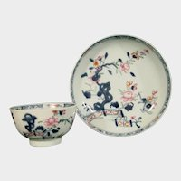 Chinese Export Teabowl & Saucer, Late 18th C.