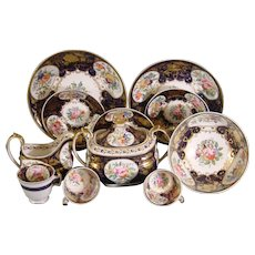 New Hall Partial Tea Set C.1815
