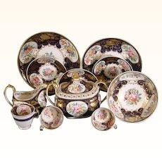 New Hall Partial Tea Set C.1815