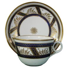 New Hall Teacup and Saucer in Pattern 583 c.1790.