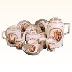 Gotha Tea Set C.1785 with Classical Scenes
