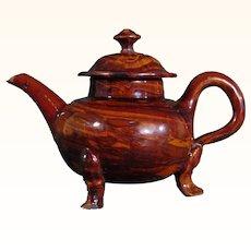 Staffordshire Agateware Teapot c.1740