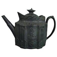 Staffordshire Black Basalt Teapot C1810.