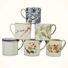 6 Wedgwood Coffee Cups, Early 19th Century