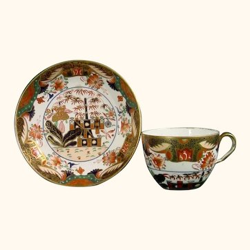 Antique Imari-Style Spode Cup & Saucer, Pattern 967 C.1820.