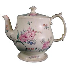 British Antique Creamware Teapot C.1765