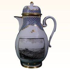 Royal Gera Coffeepot C.1785 Antique German Porcelain
