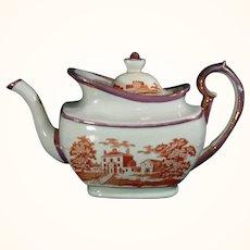 C1815 Teapot with Landscape Decoration.