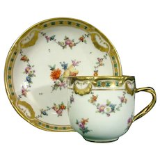 Vienna Cup and Saucer with Tooled Gilding C1765