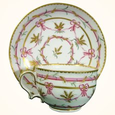 Bristol Cup and Saucer from the Butts Service C1780.