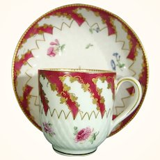 Chelsea Gold Anchor Coffee Cup and Saucer C1760.