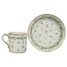 Dihl and Guerhard Cup and Saucer C.1815.