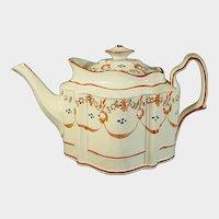 Pearlware Silver-Shape Teapot C.1795.