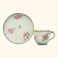 Sevres Cup & Saucer, Gobelet Fouillard, mid-18th C.