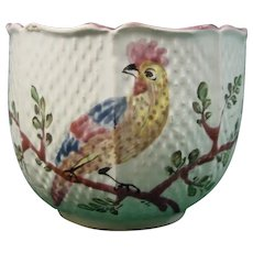 French Faience Cup with an Exotic Bird C.1775.
