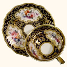 Ridgway Cup and Saucer with Bold Decoration & Gilt Scales C.1835.