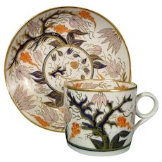 New Hall Pattern 446 Coffee Can & Saucer C.1820.