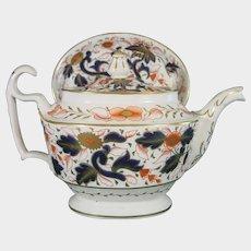 Coalport Teapot by John Rose in Pattern 162 Imari Colors c1810 Antique British Porcelain