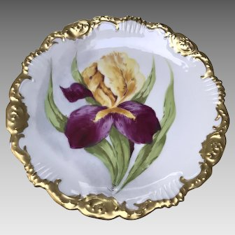Antique Limoges Cabinet Plate, signed by Rene'