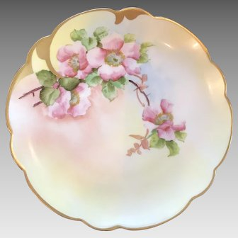 Antique HandPainted Pickard Cabinet Plate ca. 1905-1910