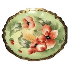 Antique Cabinet Plate, signed Barbot, Limoges ca. 1908-1914