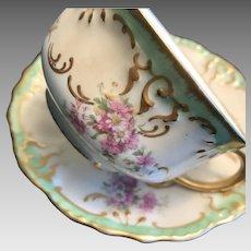 Antique Blakeman & Henderson Limoges Cup and Saucer Set ca. 1890-1910