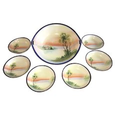 Antique HandPainted Nippon Bowl Set, ca. 1910~1921