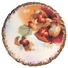 Antique Pickard Cabinet Plate, signed Rean, ca. 1912 - 1918