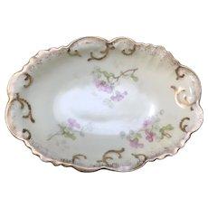 Antique Small Oval Bowl, A. Klingenberg, Limoges France