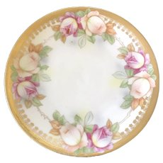 Antique HandPainted Plate – JSV Germany ca. 1900