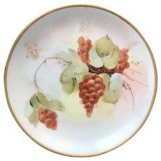 "Antique HandPainted Pickard Dessert Plate ""Autumn Currants"", signed Rean, ca.1912~1918"