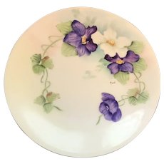 Antique HandPainted, Signed by Artist, Small Plate, Bavaria, ca. 1910-1930