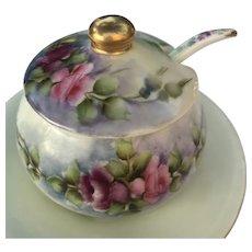 Antique HandPainted Jam Jar T&V Limoges ca. 1892-1907