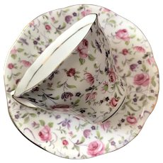 Vintage Cup and Saucer Set, Rosina China Co., England