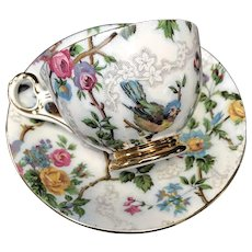 Cup and Saucer Set, Old Royal Bone China, England