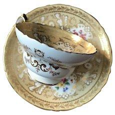 Cup and Saucer Set of Four, Cauldon Potteries, England